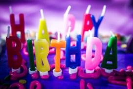 Happy Birthday 2nd birthday purple cake party
