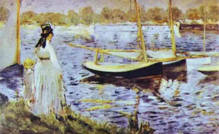Эдуард Мане Берега Сены в Аржентее 1874
