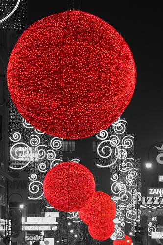 Вена, новый год, иллюминация