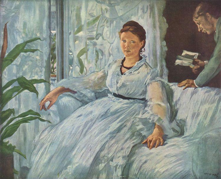Чтение, 1868, музей Орсе, Париж. Жена Эдуарда Мане Сюзанна