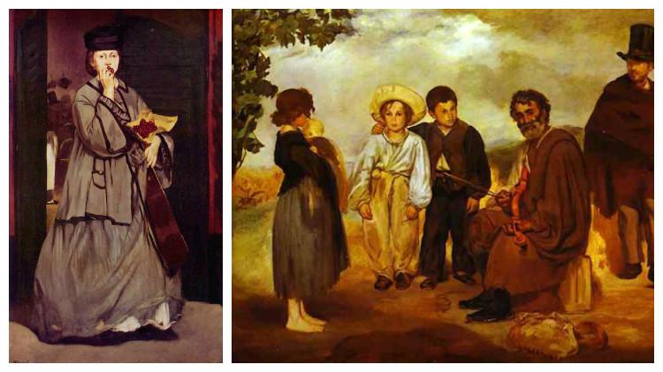 Картины Эдуарда Мане, Уличная певица, Старый музыкант