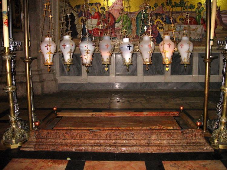 Камень Помазания, храм гроба господня