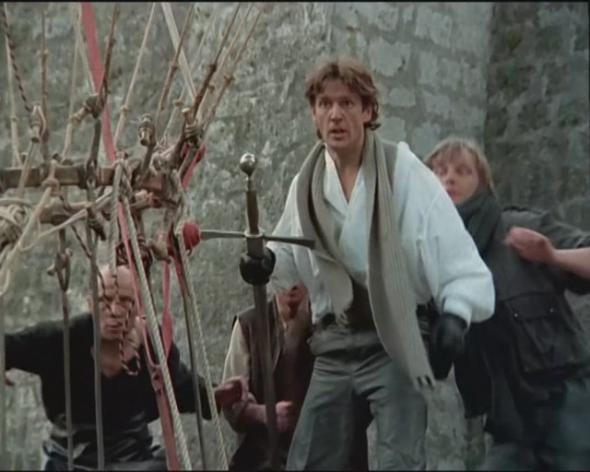 Абдулов в роли Ланселота, фильм Убить дракона