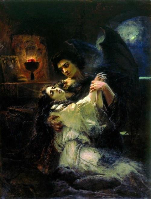 картина «Тамара и Демон», «Демон» Лермонтова