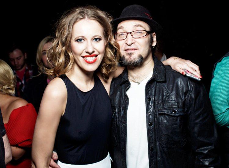 Радиоведущий и журналист Михаил Козырев с Ксенией Собчак