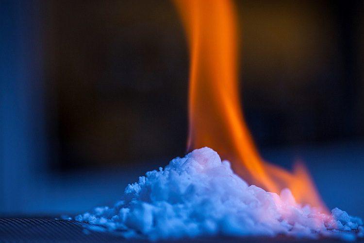 горящий газогидрат