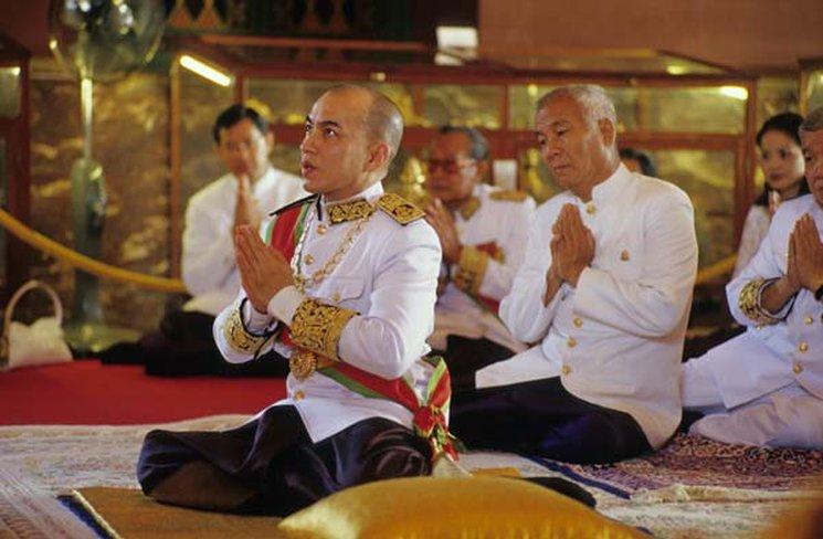 Нородом Сиамони, король Камбоджи, День коронации в Камбодже