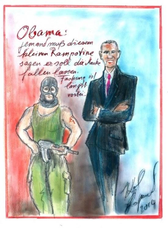 Лагерфельд, Путин, Обама, карликатура, карикатура, дизайнер