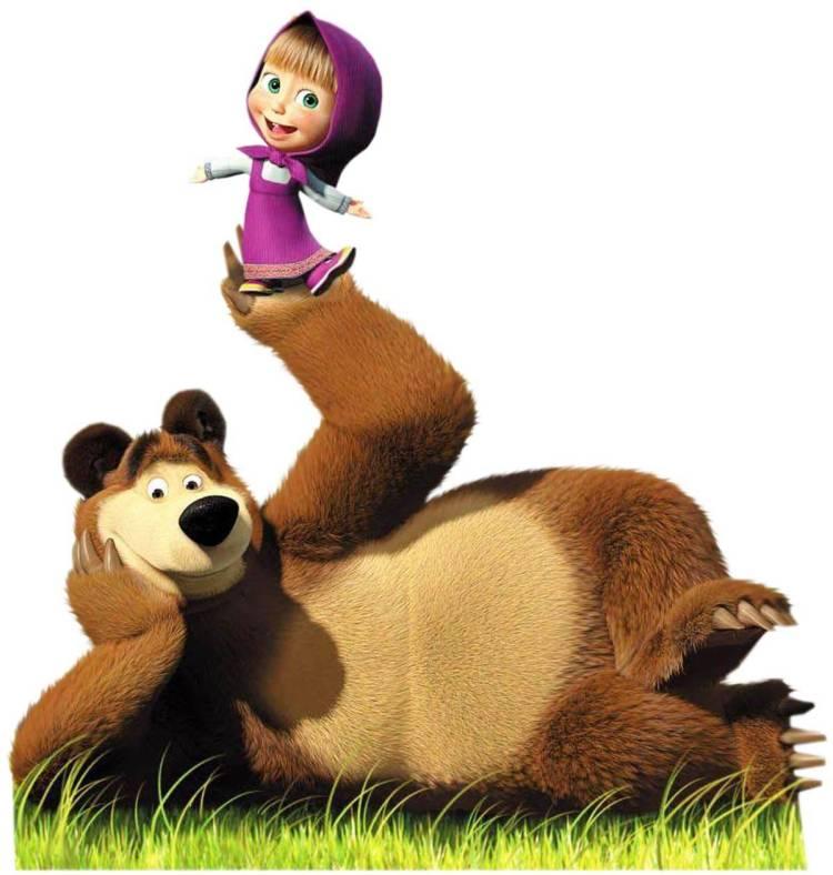 маша и медведь, кадр из мультфильма