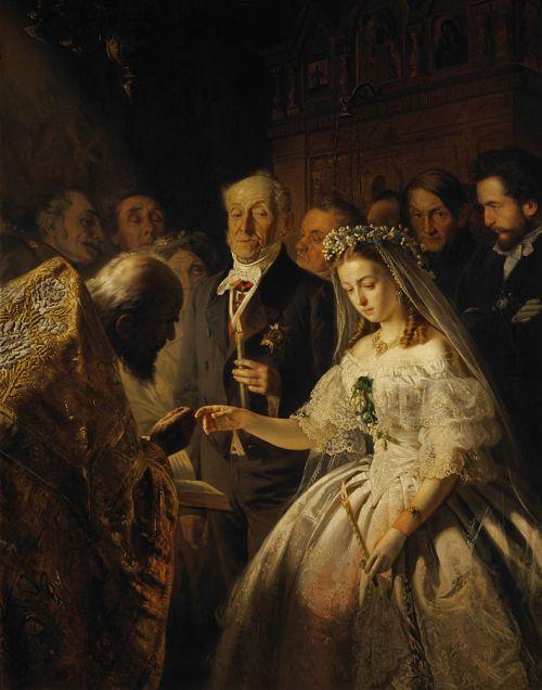Неравный брак, картина, живопись, пукирев