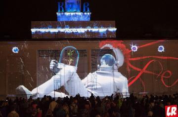 фестиваль света, космонавт, световое шоу, киев, 2018, речной вокзал