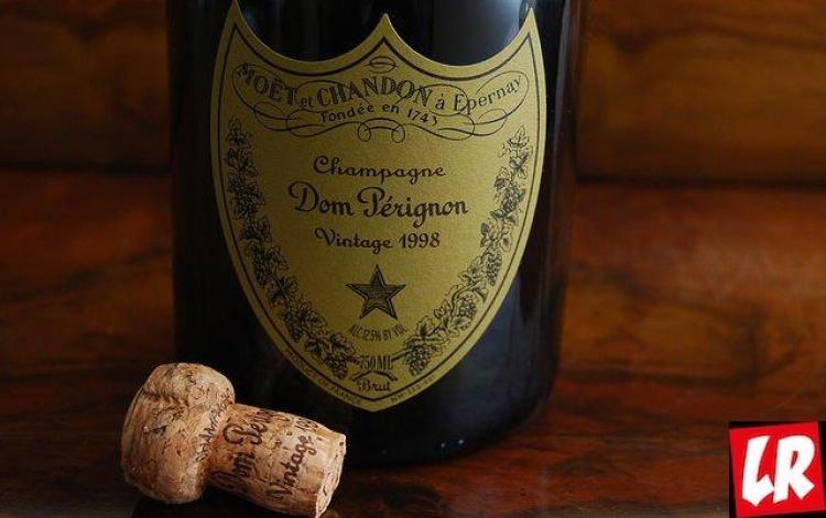 История шампанского, винтаж, Дом Периньон, бутылка, этикетка