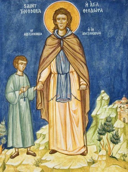 Феодора Александрийская святая, православный праздник , икона