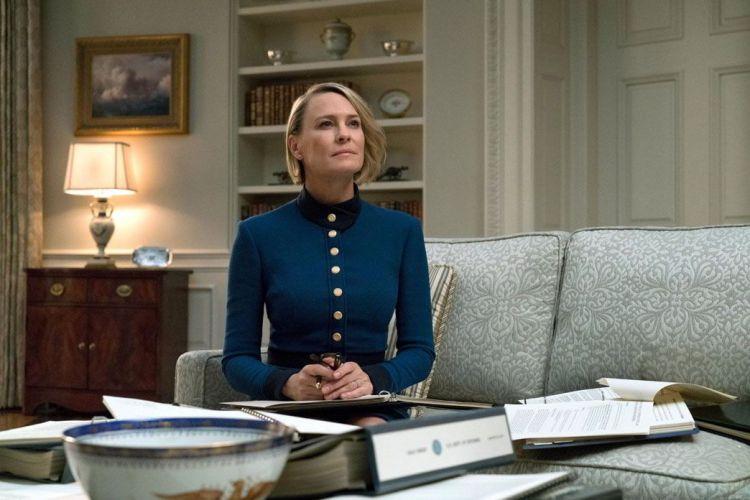 Сериалы ноября 2018, кадр из фильма, робин райт, карточный домик-6, президент США