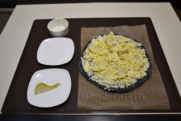 Черная пицца, bene gusto, рецепт