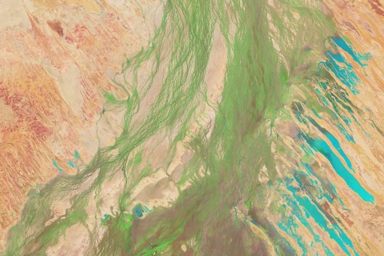 NASA, фото,озеро, Австралия, Эйр, бассейн, пустыня