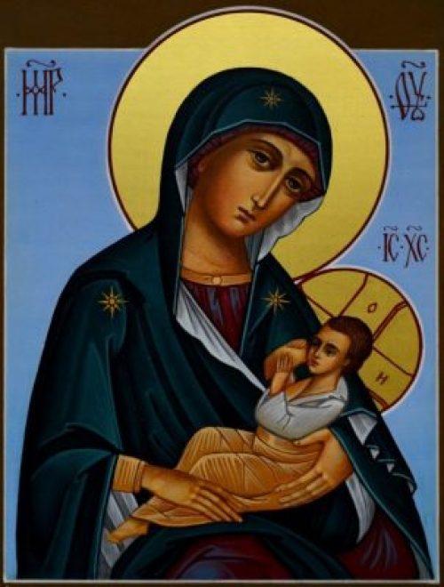 молитвы о детях, икона Блаженное чрево, иконы Рождества