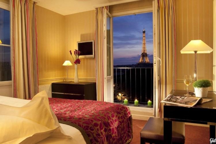 Duquesne Eiffelотели Парижа, отели с видом на Эйфелеву башню, Париж, Франция, вид из окна, Дом инвалидов