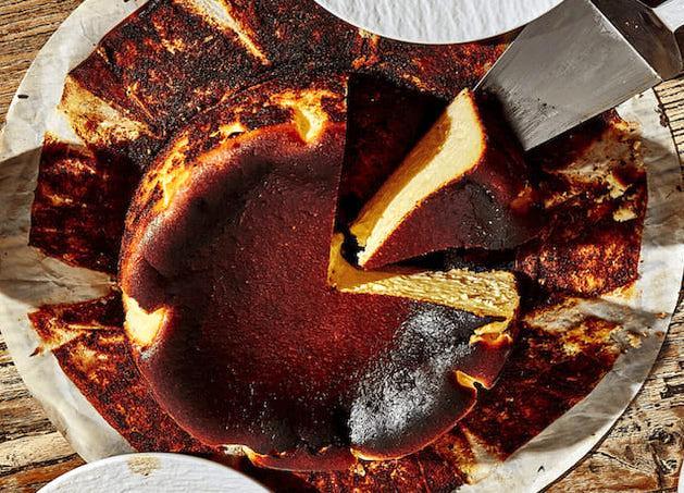 чизкейк Сан-Себастьян - рецепт, чизкейк из Испании, бакский чизкейк, десерт, торт, горелый чизкейк
