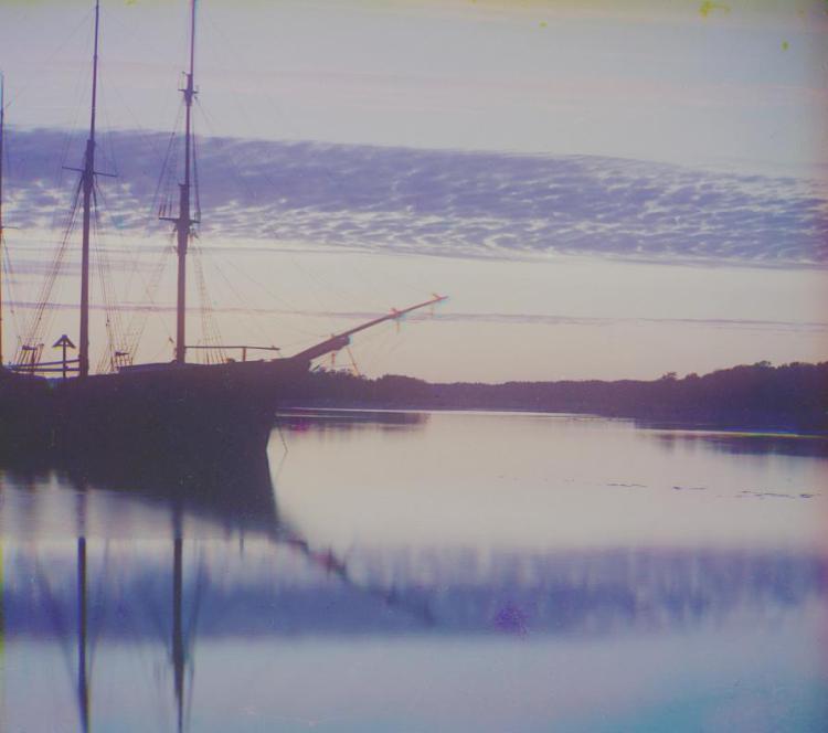 Соловки, судно, монастырь, историческое фото