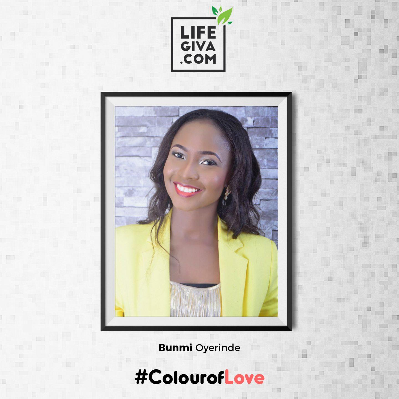 Love Cast in Colours - Bunmi Oyerinde #ColourOfLove
