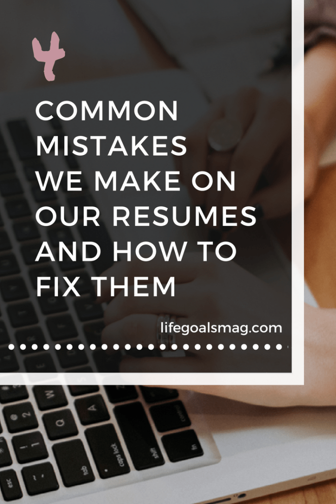 Common mistakes made on resumes when job hunting