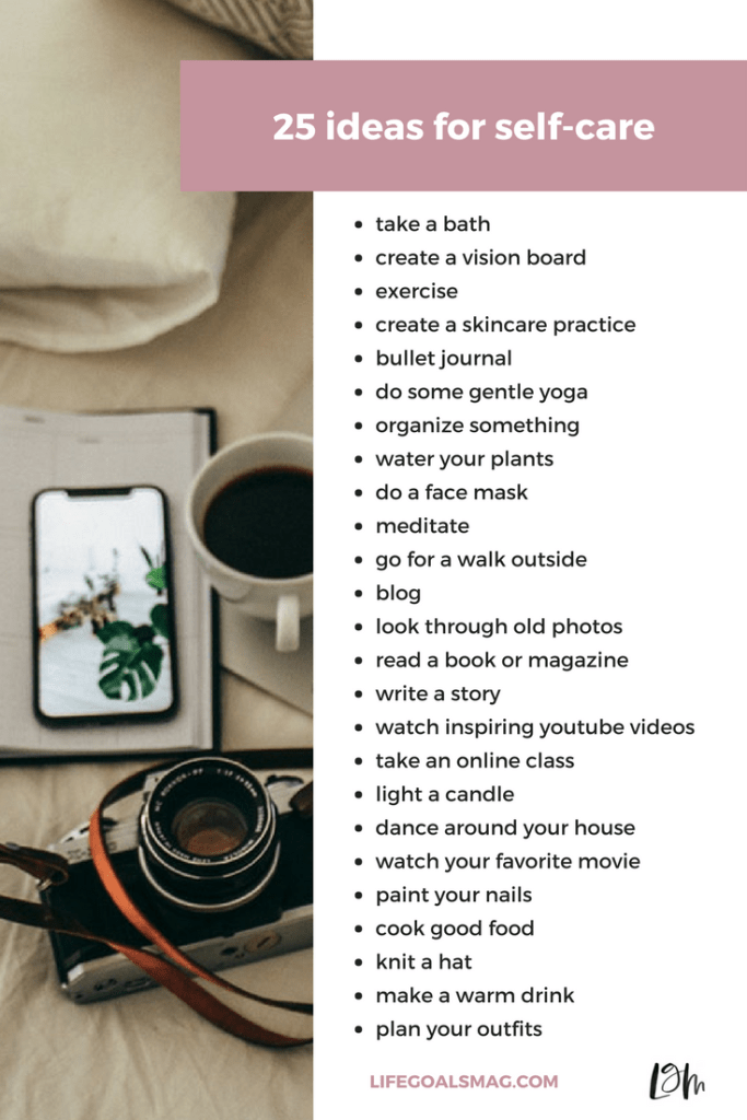 list of ideas for self-care