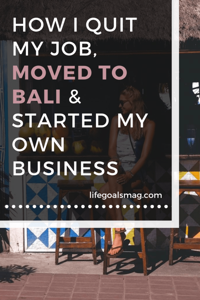 What it's like to quit your job, move to Bali and start your own business abroad. #entrepreneur #wanderlust