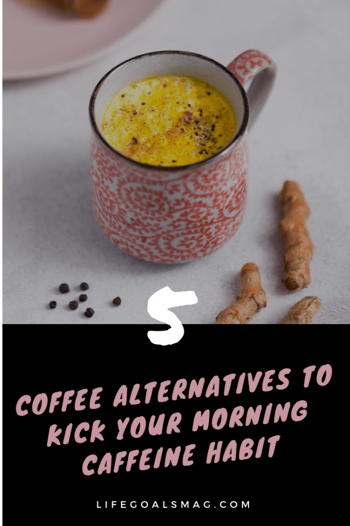 healthy coffee alternatives to kickstart your morning, without the afternoon crash! elixir ideas and some fun wellness brands to try out that taste like coffee, but have far less caffeine, for the perfect energy boost. #coffee #elixirs #healthydrinks
