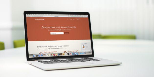 Email Hunter —сервис, который находит контакты любой компании в считанные секунды