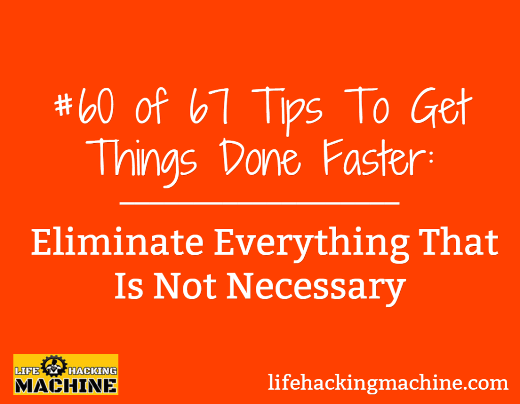 get things done faster