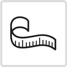 A tape measure icon from the lifehackr diet plan webpage - http://lifehackrdiet.com