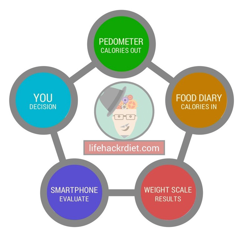the Lifehackr Diet flowchart
