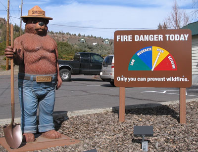 Fire danger dial-