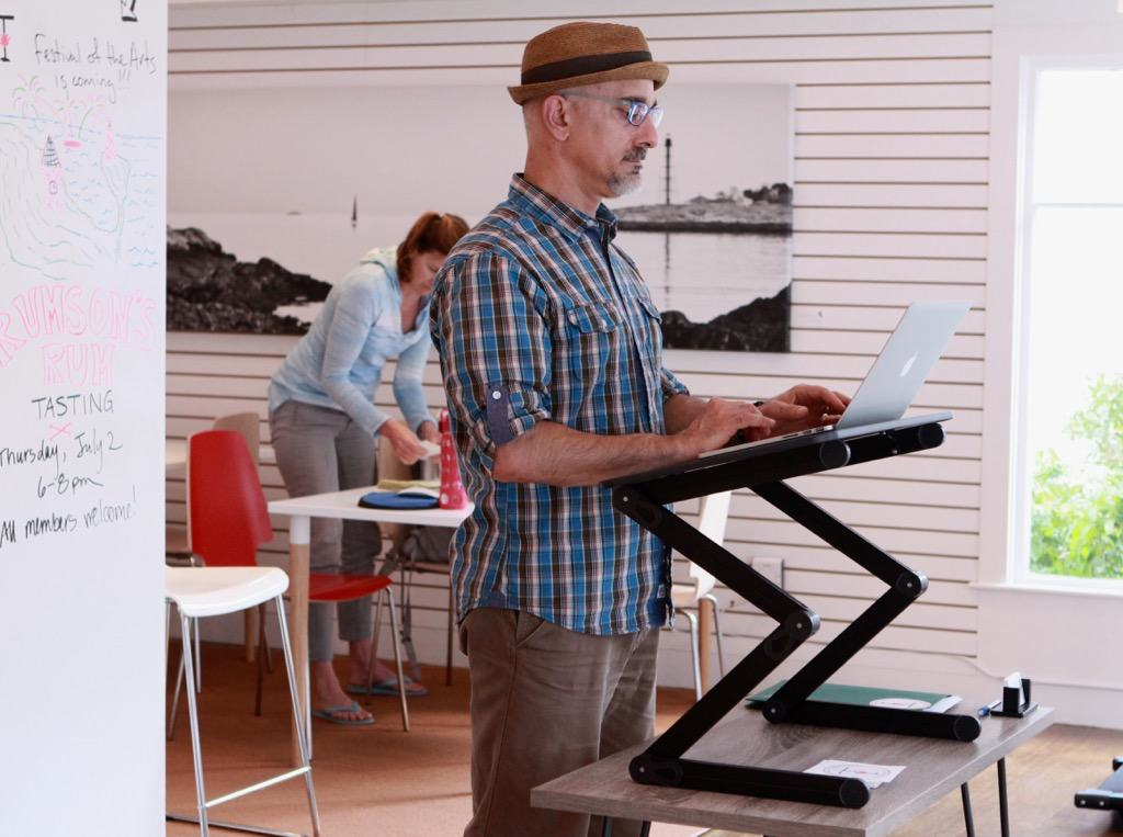 Easily and econmically convert a regular desk into a standing desk