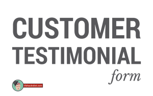 Customer Testimonial Form-http://lifehackrdiet.com/