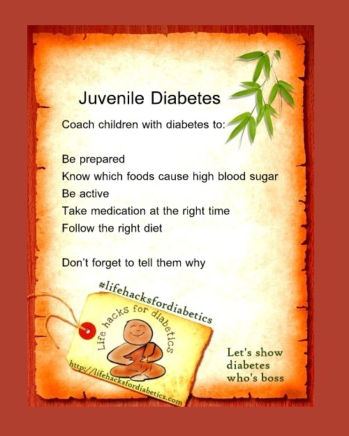 Juvenile Diabetes #LifeHacksForDiabetics