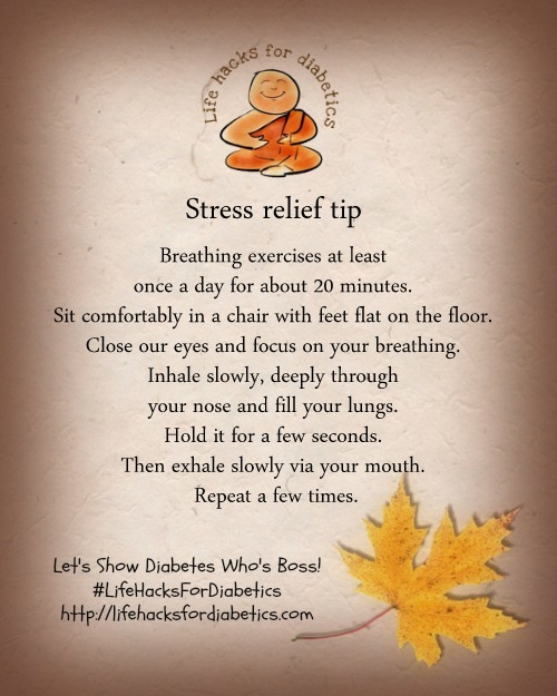 stress relief lifehacksfordiabetics