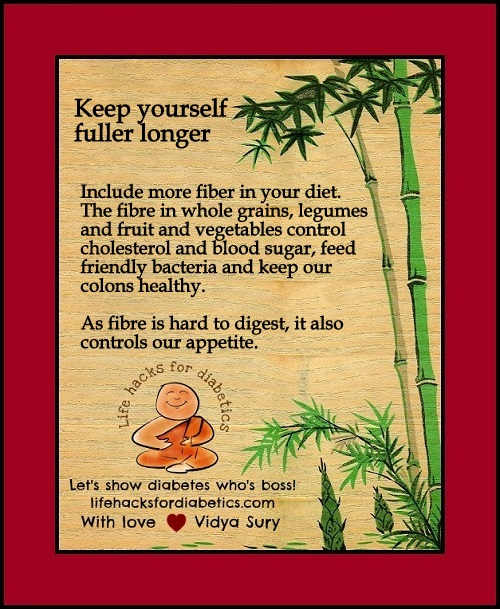 Keep yourself fuller longer Vidya Sury
