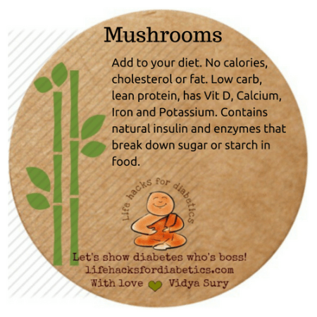 Mushrooms #lifehacksfordiabetics