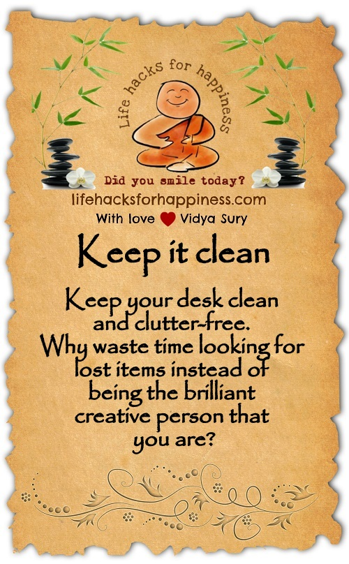 Keep it clean Vidya Sury
