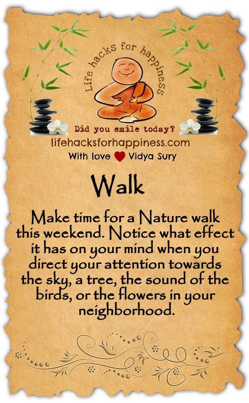 Walk Vidya Sury