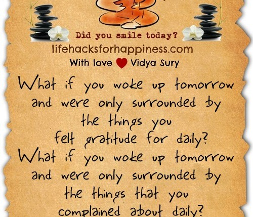 The choice to be grateful