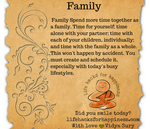 Family #Lifehacksforhappiness #atozchallenge