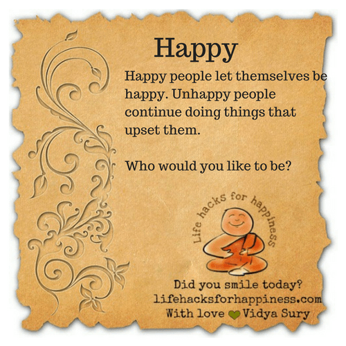 Happy #lifehacksforhappiness