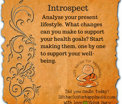 Introspect #lifehacksforhappiness
