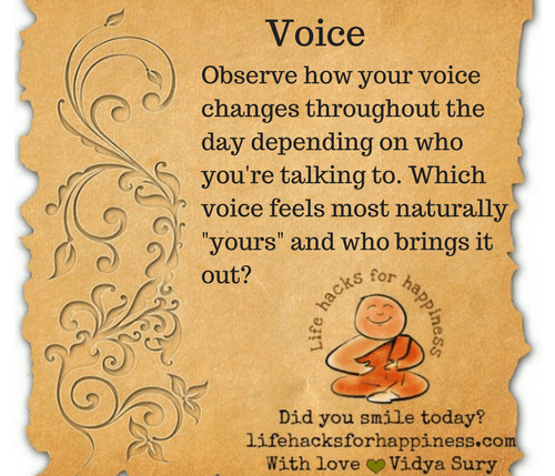 Voice #lifehacksforhappiness