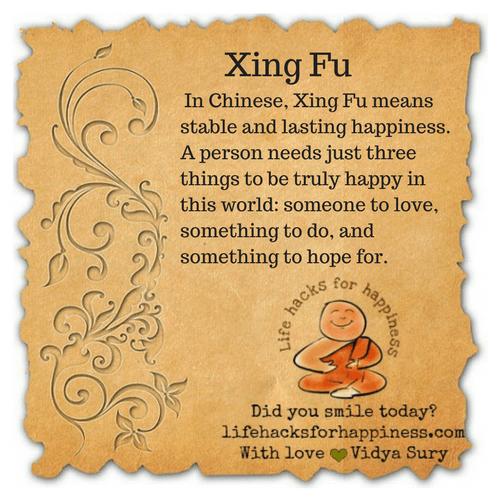 Xing Fu #lifehacksforhappiness