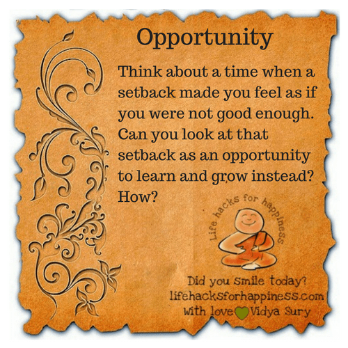 Opportunity #lifehacksforhappiness