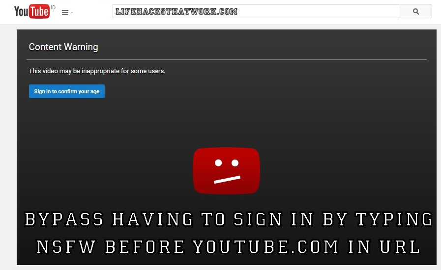 Bypass Youtube Content Warning